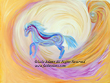 Heavenly Adventure - A beautiful rainbow horse comes out of heaven to lead you into a great adventure.